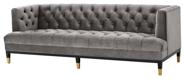 Grey Velvet Tufted Sofa | Eichholtz Castelle, grey, 91"|640|276|?|fcf37fa65642aa015e5e39878db0ff53|False|UNLIKELY|0.3413068652153015