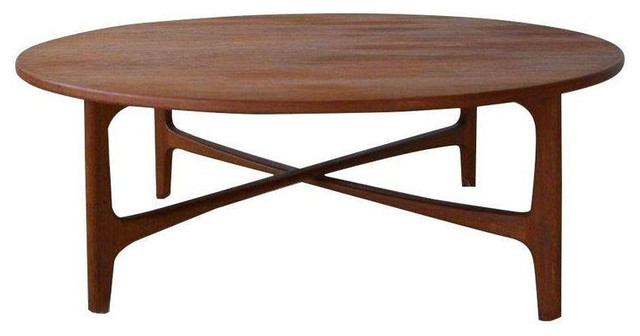 MidCentury Dux Round Teak Coffee Table