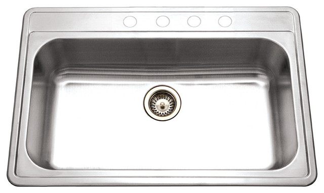 Houzer Pgs-3122-4-1 Premiere Gourmet Series Topmount Stainless Steel 4-Hole.