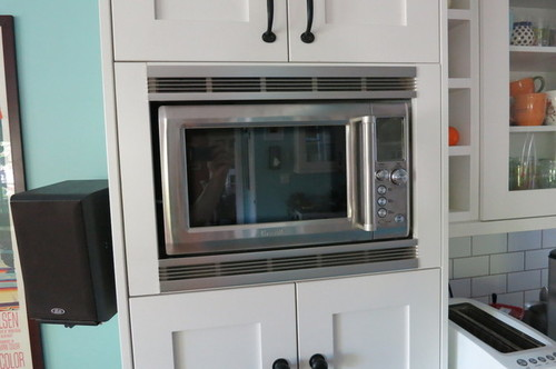 Microwave In A Cabinet