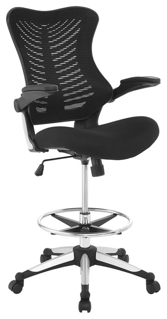 Modern Contemporary Urban Design Work Home Office Chair Black Fabric