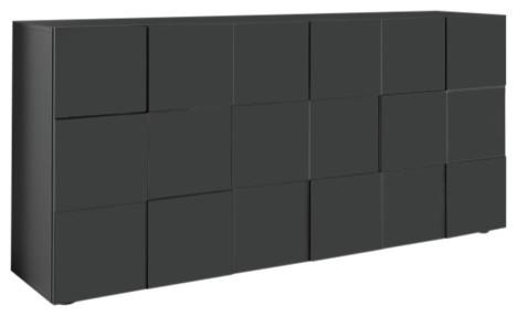 Diana 3-Door Sideboard, 181 cm, Grey Gloss