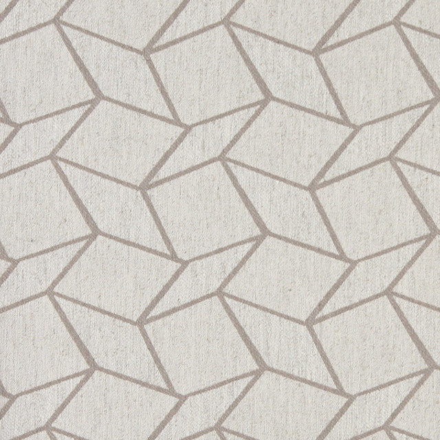 Grey And Off White Geometric Boxes Upholstery Fabric By The Yard