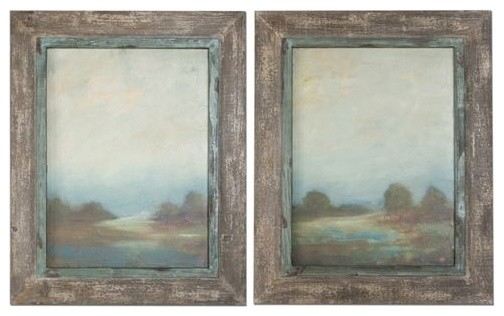 Morning Vistas Framed Art, 2-Piece Set.