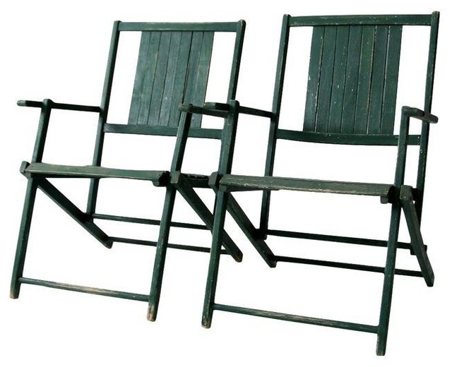 Consigned Vintage Wood Folding Chairs Circa 1950 Farmhouse Outdoor By 86