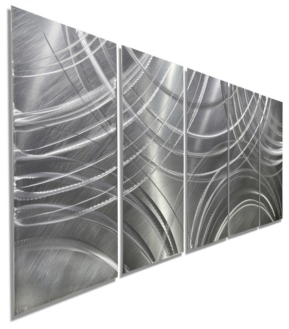 """amplify"" - Silver Modern Metal Wall Art."