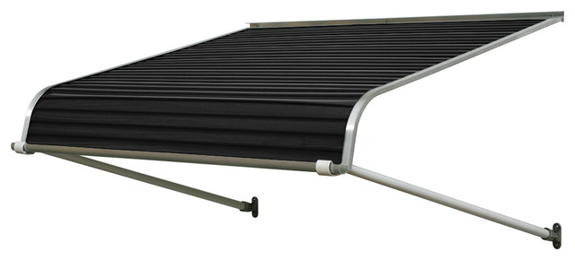 "1100 Series Aluminum Door Canopy 84""x24"" Projection, Black."