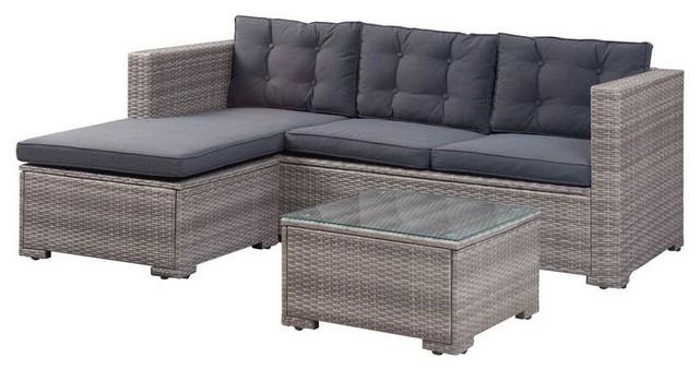 Merced 3-Piece Outdoor Sofa Set.