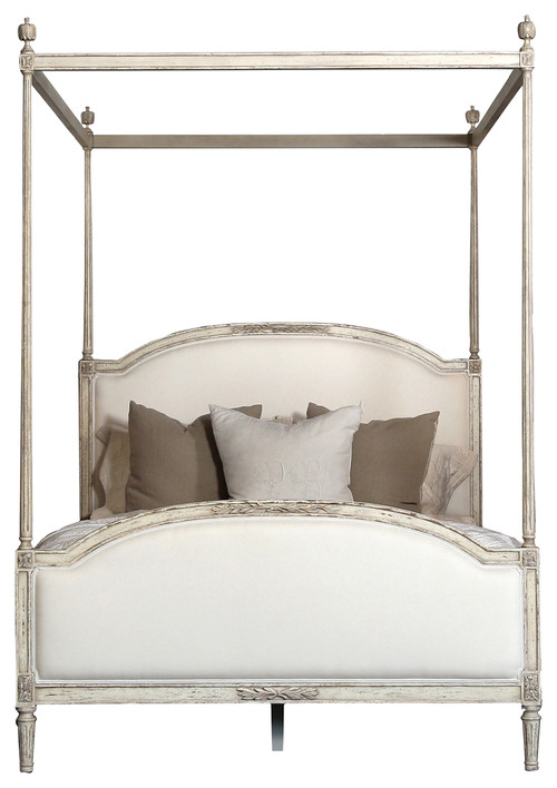 Eloquence� Dauphine King Canopy Bed in Weathered White
