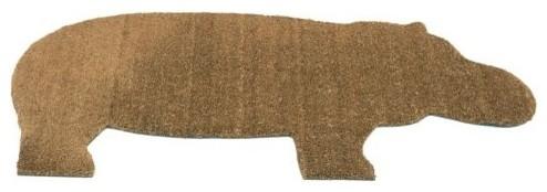 Hippo Door Mat by Droog