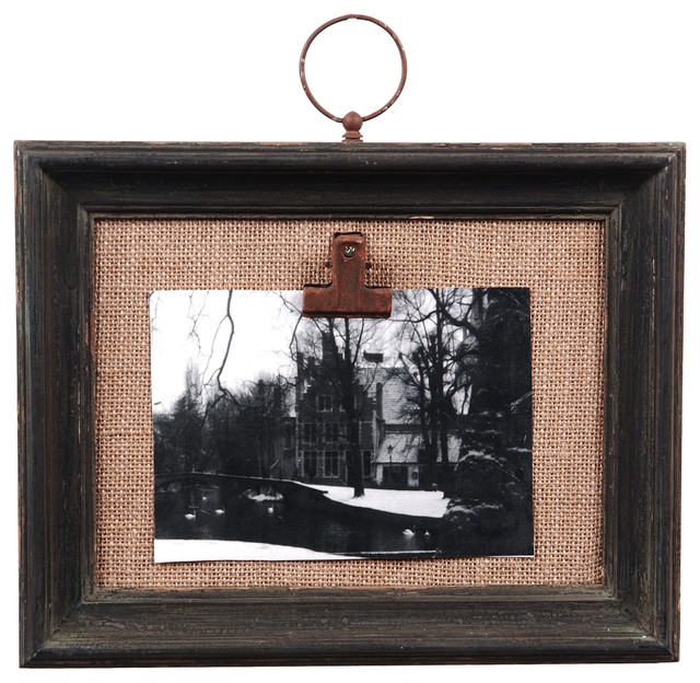 distressed black wall photo clip frame rustic picture frames - Window Clip Frame