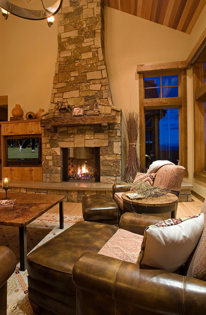 mountain mansion traditional living room portland jim oliver s architectural interior design images