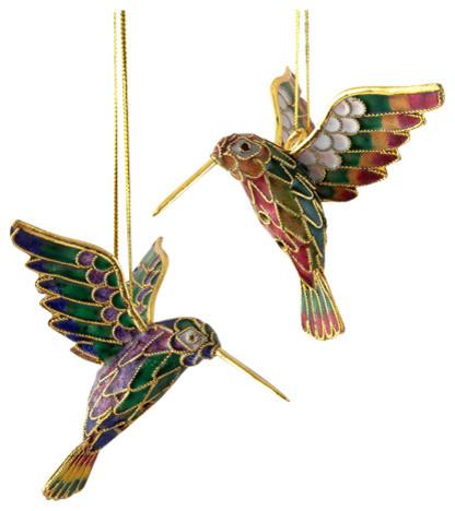 Hummingbird Ornaments, Set of 2 - Traditional - Christmas ...