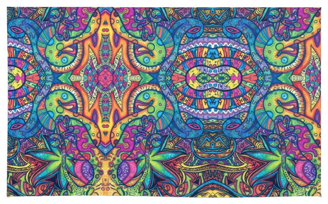 Society6 Colorful Weed Trippy Rug 2 X3 Contemporary Area Rugs