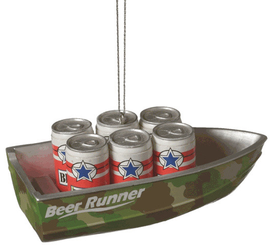 Beer Runner Camouflage Boat Christmas Tree Ornament - Beer Runner Camouflage Boat Christmas Tree Ornament - Traditional