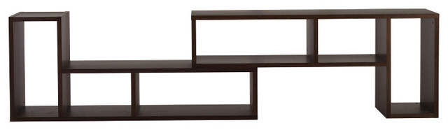 Domino Duo Shelving Unit, Chocolate modern-bookcases