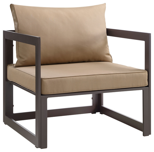 fortuna outdoor patio armchair brown mocha chairs