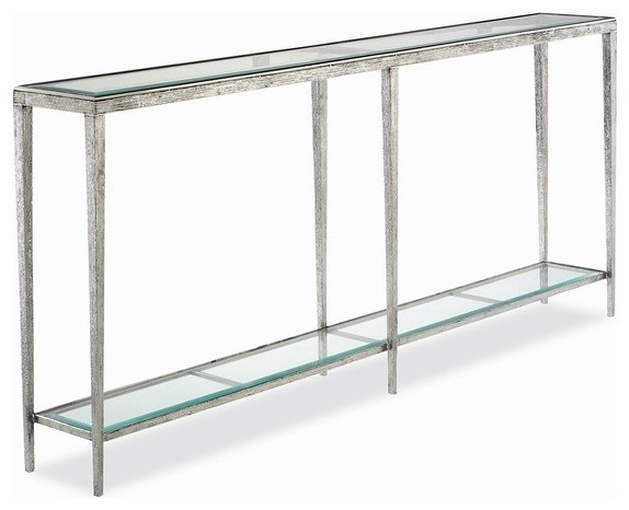 Hancock u0026 Moore Jinx Large Nickel Console - Contemporary - Console Tables - by Seldens Furniture