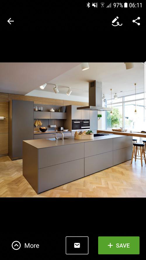 Clean modern kitchen 25k too much to ask for Kitchen design 5m x 5m