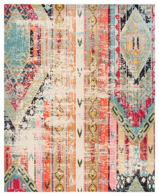 "Safavieh Monaco Area Rug, Multicolored, 5&x27;1""x7&x27;7""."
