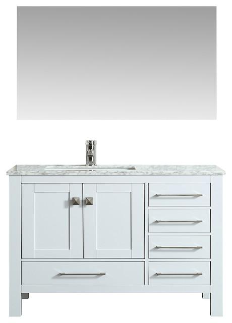 "Eviva London Bathroom Vanity, White, 38"""