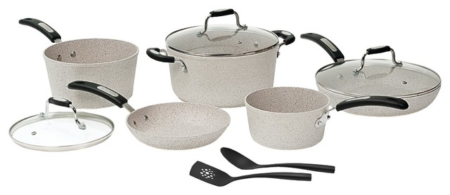 The Rock By Starfrit 10 Piece Cookware Set With Bakelite