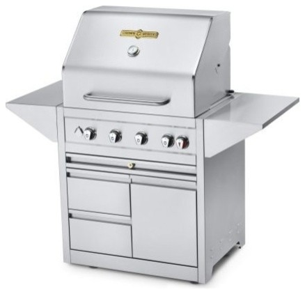 """Estate Elite 30"""" Double Drawer Cart Grill, Natural Gas."""