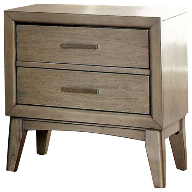 Snyder Ii Contemporary Night Stand, Gray. -2