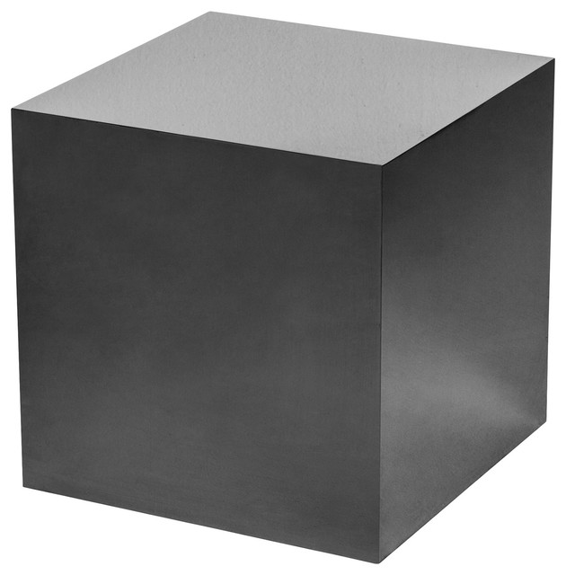 Beau Ajax Modern Classic Black Onyx Cube Side Table