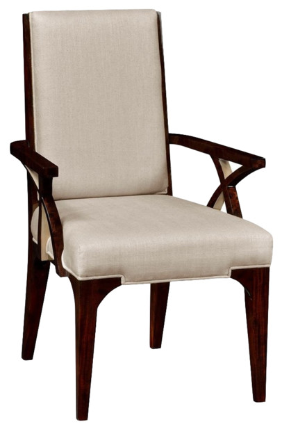 Fabulous Art Deco Style Upholstered Dining Armchair Machost Co Dining Chair Design Ideas Machostcouk