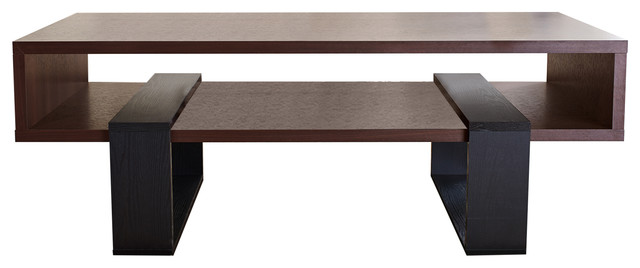 Contemporary Coffee Table maurizio contemporary coffee table, walnut - modern - coffee