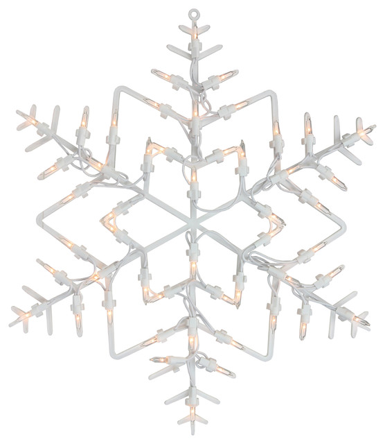 18 Lighted Snowflake Christmas Window Silhouette Decoration