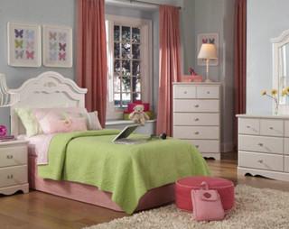 daphne bedroom set - transitional - kids bedroom furniture sets