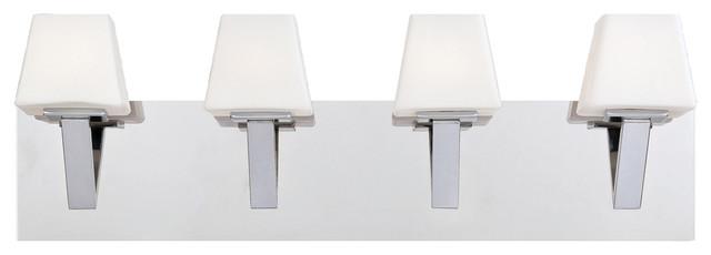 Anglo, 4-Light Bathbar, Chrome