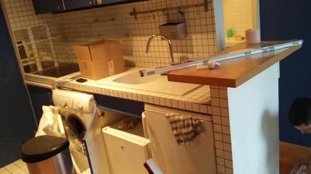 Renovation de la Salle de douche et cuisine pour ce studio parisien