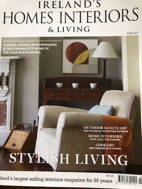 The article in Ireland's Homes Interiors and Living magazine June 2021 issue.