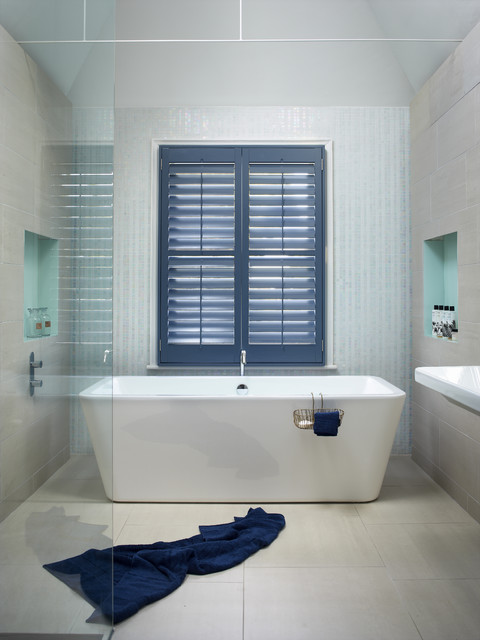 Designer Bathroom Blinds bathroom plantation shutters - modern - bathroom - adelaide -