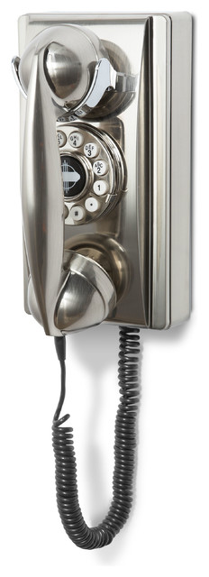 Wall Phone, Brushed Chrome