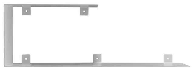 Top and Bottom Steel Wall Shelf Unit, White
