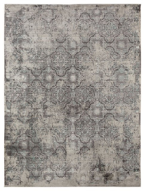 Cambridge 9 Graphite Gray Power-Loomed Area Rug by Amer Rectangle - Contemporary - Area Rugs - by Lighting and Locks