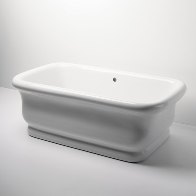 Empire Freestanding Rectangular Bathtub Traditional