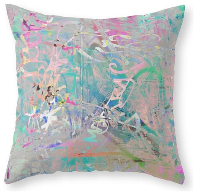Decorative Pillow Texture : Graffiti Texture Throw Pillow Cover - Contemporary - Decorative Pillows - by Society6