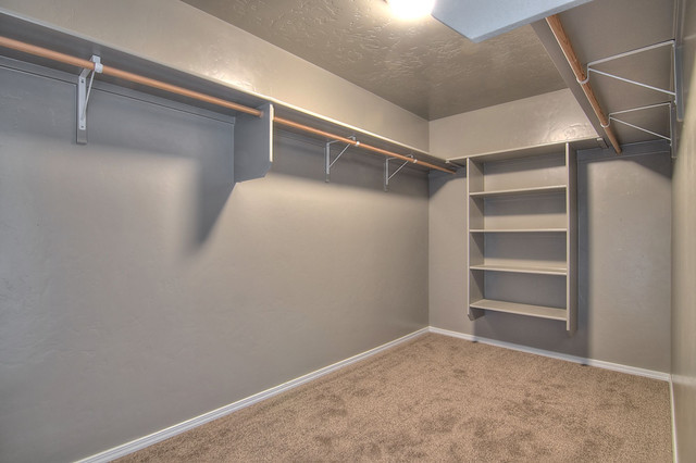 Master walk in closet closet boise by cbh homes