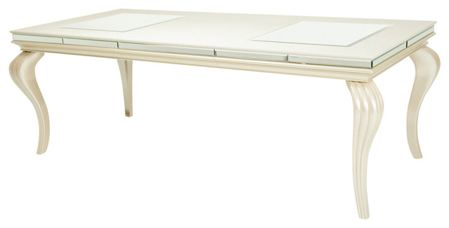 Aico Michael Amini Hollywood Loft 4 Leg Dining Table Frost Frost