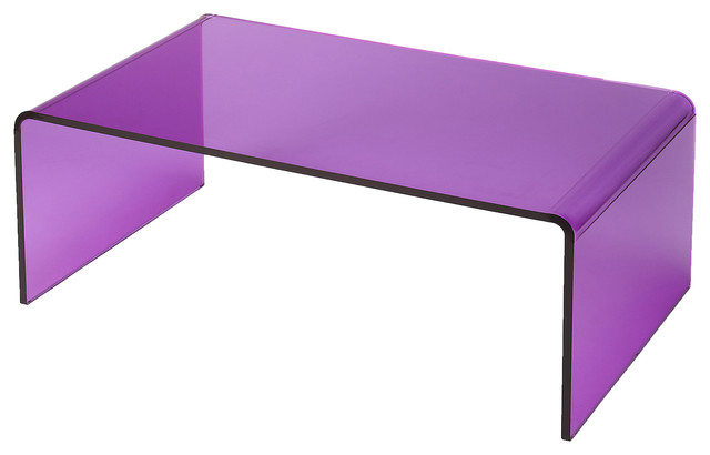 Butler Crystal Purple Acrylic Cocktail Table