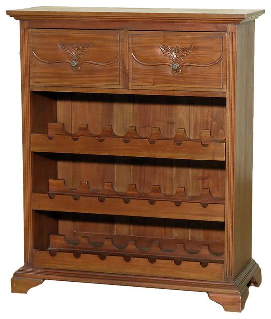 Drawer Liquor Wine Bar Rack - Traditional - Wine And Bar Cabinets ...