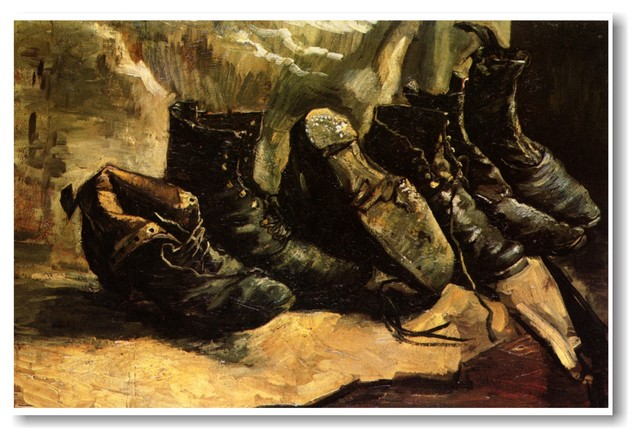 7cca2f6cd6 Three Pair of Shoes 1886 - Vincent van Gogh - Art Print POSTER -  Traditional - Prints And Posters - by PosterEnvy