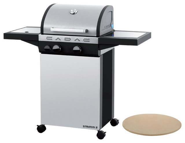 Stratos 2 Stainless Steel Gas Range Grill And Pizza Stone.