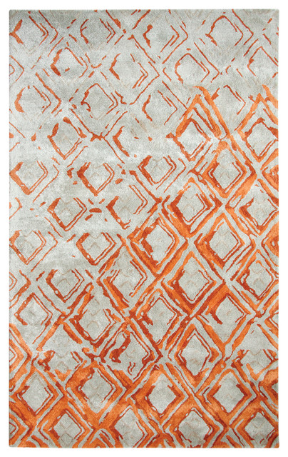 Dynamic Rugs Vogue 881003 Gray Rust Area Rug