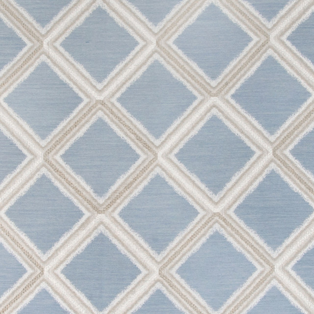 Shop Houzz Kovi Fabrics Bluebell Blue Diamond Geometric
